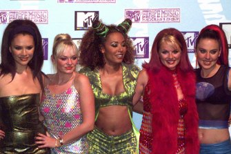 The Spice Girls in 1997 at the MTV Music Awards.