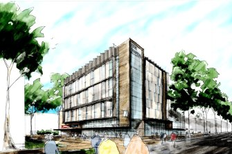 An artist impression of the proposed Ryde Hospital redevelopment.