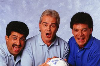Andy Paschalidis, Les Murray and Johnny Warren were the faces of SBS football coverage in the early days, and together hosted On The Ball - the predecessor to The World Game.