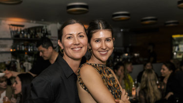 Sisters Peta Heinsen and Ilona Hamer behind Matteau