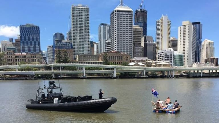 The five friends' voyage down the Brisbane River comes to an end.