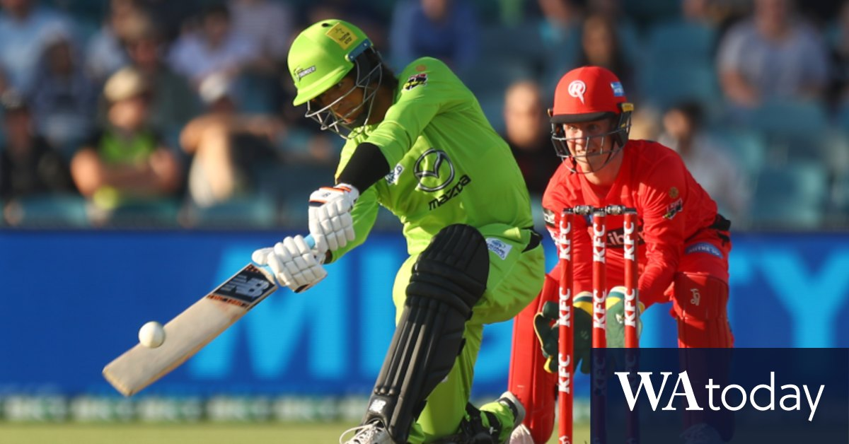 Young gun belts five sixes in a row as Thunder smash Renegades