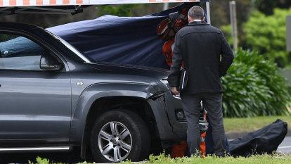 Man's body found in van 'sprayed with bullets' on EastLink