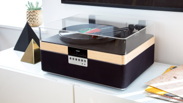 Most record players with speakers attached are poor, but not this one.