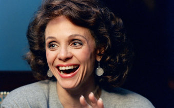 Valerie Harper during an interview in New York, 1987.