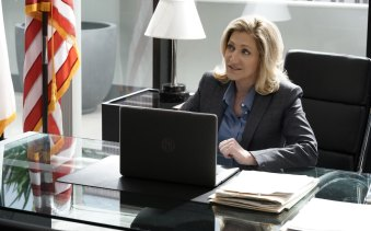 Edie Falco stars as Abigail Thomas – aka Tommy – in Network 10's new show, Tommy.