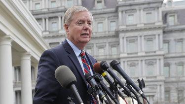 Senator Lindsey Graham outside the West Wing on December 30.