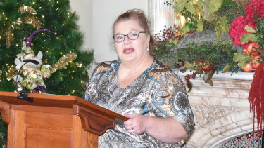 Education Minister Sue Ellery at the Governor's House for the Beazley medal presentations for 2020.