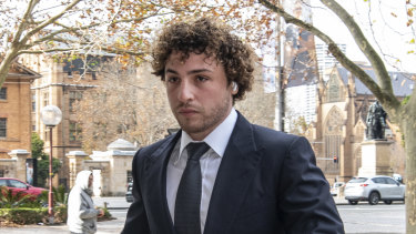 Daniel Taylor arrives at the Federal Court on Tuesday.