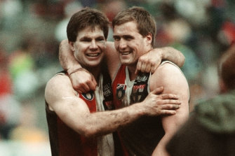 Danny Frawley had a close bond with Saints spearhead Tony Lockett.