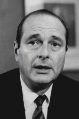 French Prime Minister Jacques Chirac.