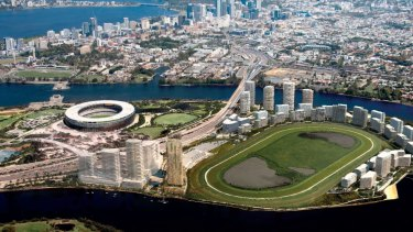 Artist impression of the Belmont Park redevelopment on Burswood Peninsula.