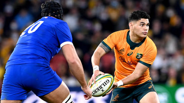 Keeping Noah Lolesio at five-eighth would allow Australia to select James O'Connor at fullback.