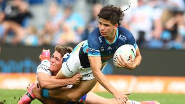 Jayden Campbell scored two tries for the Titans.