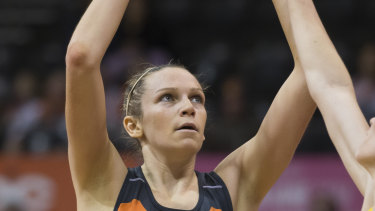 Giants shooter Jo Harten has also pleaded with the government to give netball a restart date.