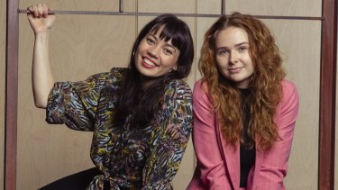 Catherine Văn-Davies (left) and Sofia Nolan tap into their natural chemistry for their lead roles in Playing Beatie Bow.