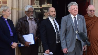 Religious leaders gathered in Perth on Wednesday to condemn the government's actions regarding the EPA.