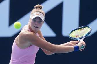 Olivia Gadecki, pictured, played against Sofia Kenin in the Phillip Island Trophy.