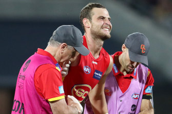 Gold Coast's star ruckman Jarrod Witts succumbed to a serious knee injury in round three.