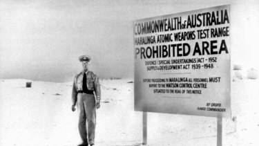 Nuclear testing was carried out in the deserts of South Australia at Maralinga.