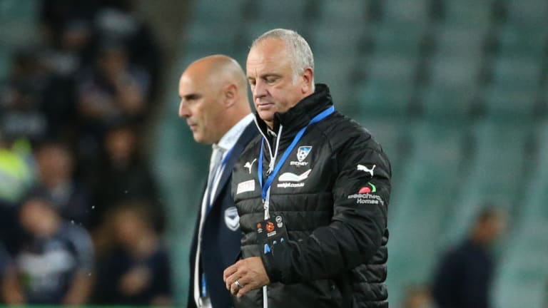 Once brothers: Rivalry between Graham Arnold and Kevin Muscat has stoked tensions of the Big Blue.