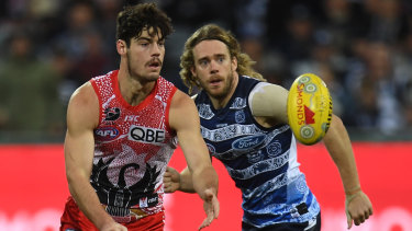 George Hewett says while the bye gives Swans time to recover, it scuppers their momentum.
