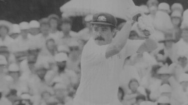 David Boon in action against West Indies at Manuka Oval.