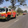 Firefighters deploy large firebombing aircraft to tackle Penrith blaze