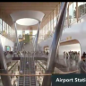 An artist's impression of the airport rail link station.