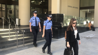 Constable Lindsay Jeffree and Constable Ella Cutler leave the inquest on Tuesday.
