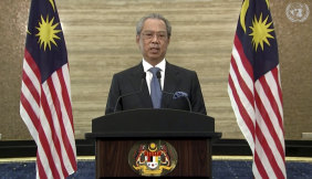 Malaysian Prime Minister Muhyiddin Yassin.