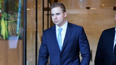 Kyle Daniels leaves the Downing Centre Courts.