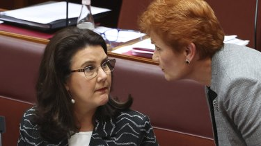 Superannuation Minister Jane Hume helped win the support of Pauline Hanson and other Senate cross benchers.