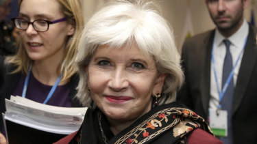 Laurence Tubiana in 2015 arriving for international climate talks in Paris.
