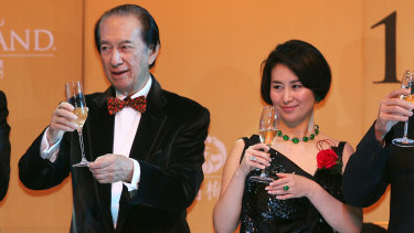 Stanley Ho with daughter Pansy at the opening of MGM Grand Macau in 2007.