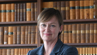 Federal Court Justice Jacqueline Gleeson, pictured on Wednesday, will join the High Court on March 1.