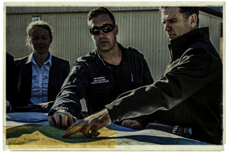 Detective Inspector Andrew Stamper (right) of the Missing Persons Squad.