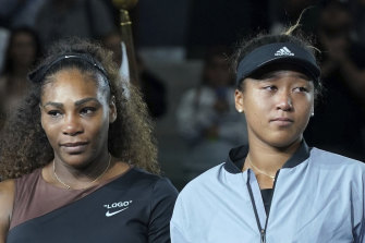 Naomi Osaka, right, burst onto the scene with her 2018 US Open final win over Serena Williams.