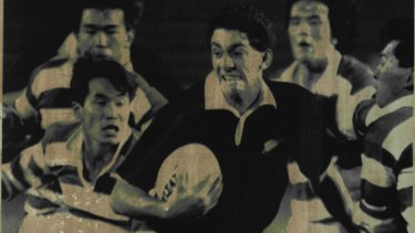 Paul Simonsson on debut in the All Blacks' 94-0 victory over Japan.