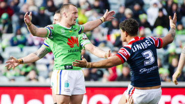 Clash of styles: Josh Hodgson leads the competition in one-on-one strips, while the Roosters do not use the tactic very often.