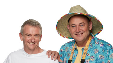 Matt (left) and Brett appear in the new season of Travel Guides on Nine.