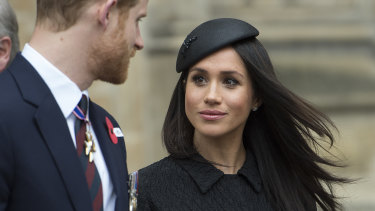 Prince Harry and Meghan Markle on Anzac Day.