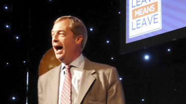 Nigel Farage returned to British politics at a 'Leave Means Leave' Brexit rally in Bolton.