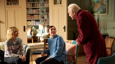From left, Imogen Poots, Olivia Colman and Anthony Hopkins in The Father.