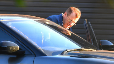 Property developer Antoine Bechara outside his Abbotsford home this week.