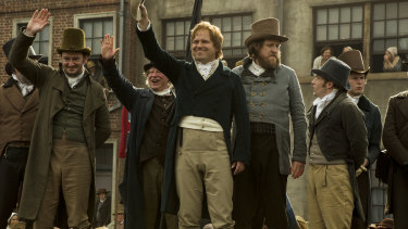 Mike Leigh's film is drawn from  the Peterloo Massacre of 1819.
