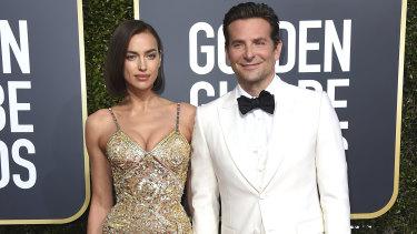 Cooper and Irina Shayk at the  Golden Globe Awards in Januaruy.
