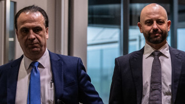 ARLC chairman Peter V'landys and NRL chief executive Todd Greenberg.