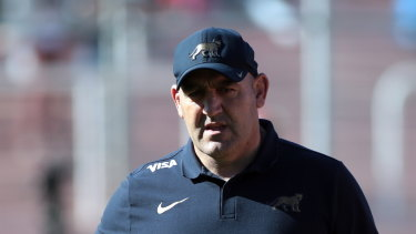 Change: Argentina coach Mario Ledesma in his new role with the Pumas.