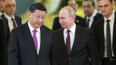 Xi Jinping and Vladimir Putin in Moscow last year.